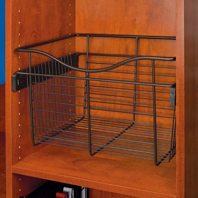 wire basket style drawers