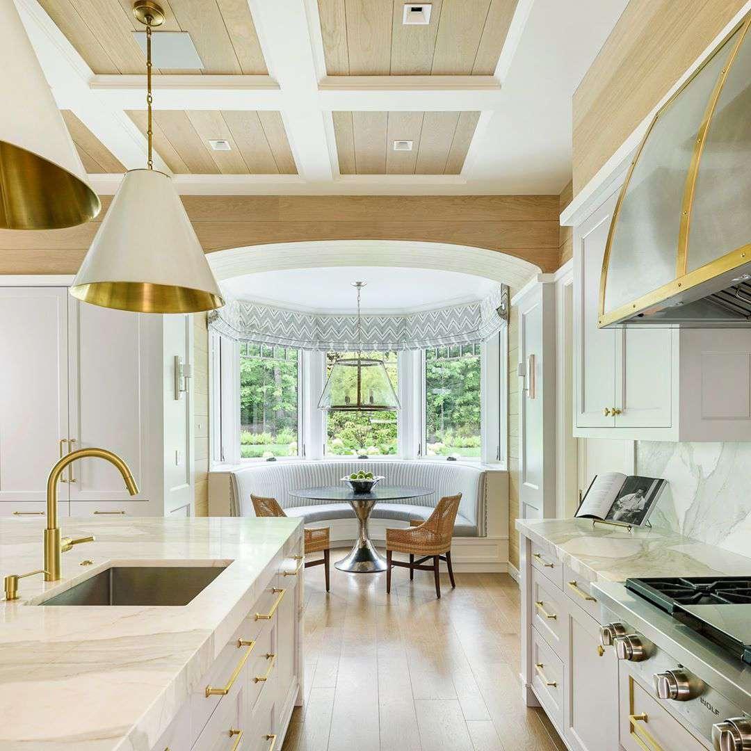 Bright white kitchen.