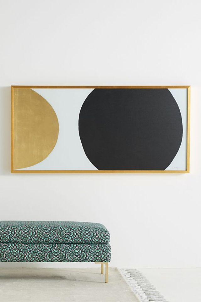Gold Black Orb Wall Art by Dawn Sweitzer