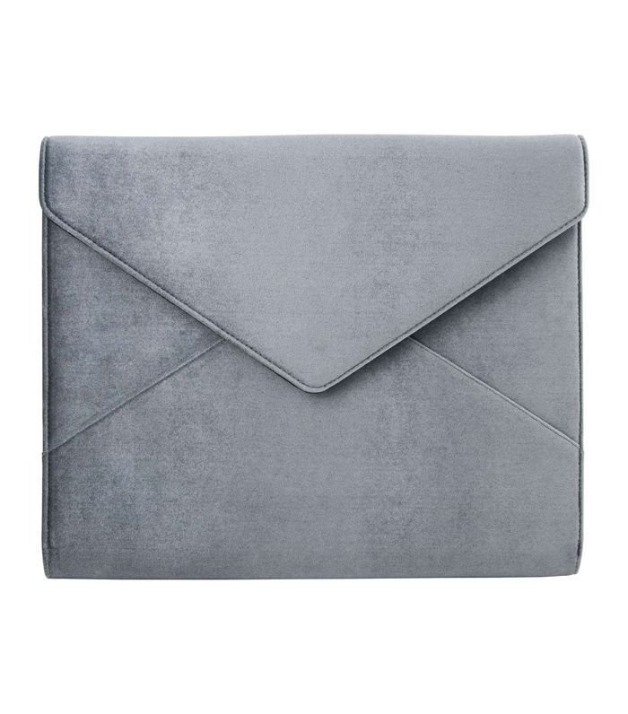 Powder Velvet Laptop Clutch -