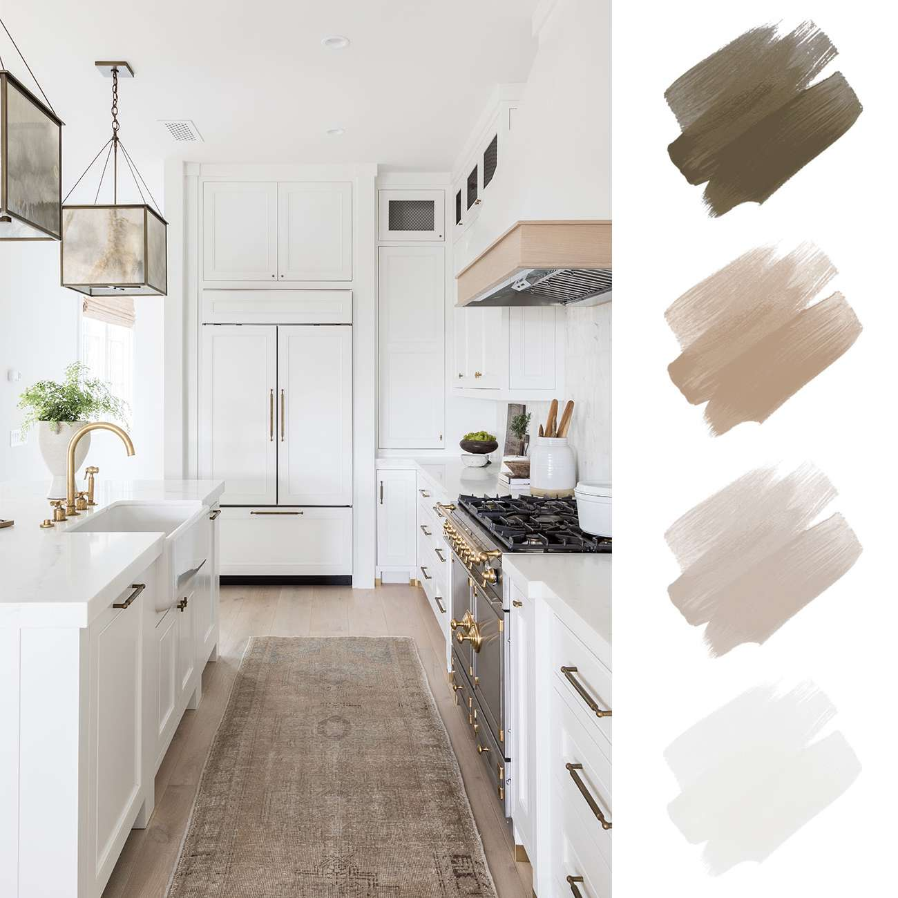 neutral color scheme - brown and tan and white