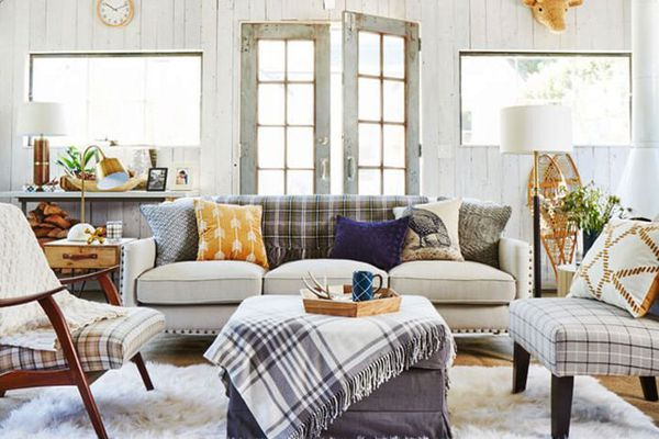 a living room with Target Home furnishings