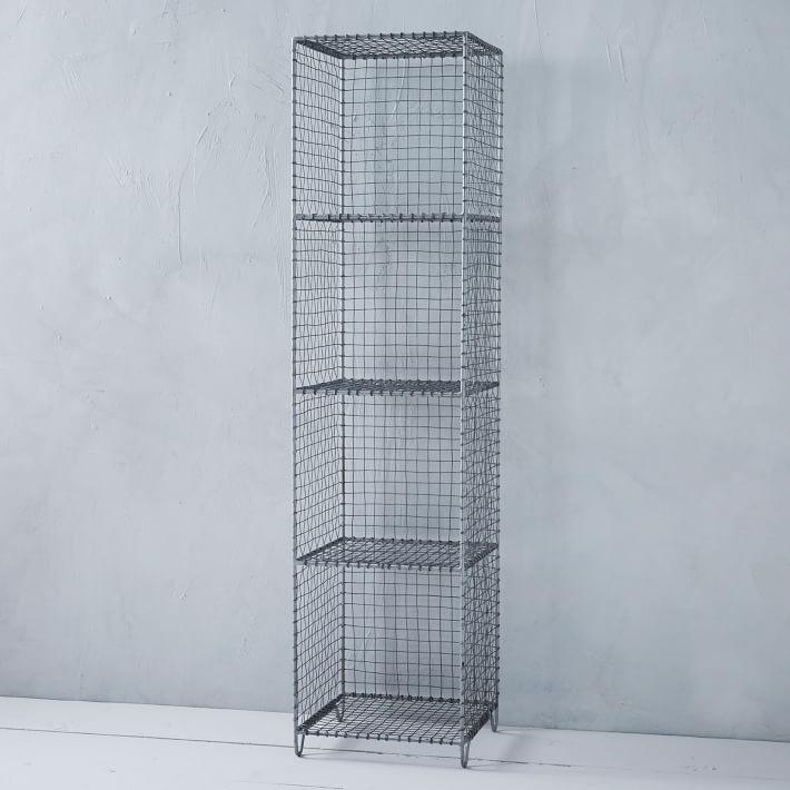 Wire mesh standing shelving rack