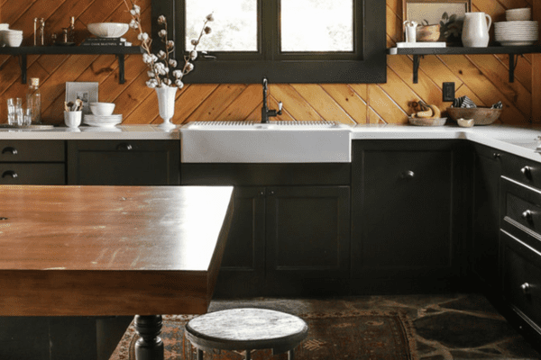 Wooden kitchen with antique feel.