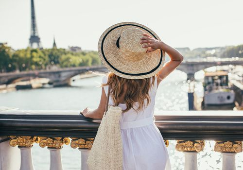woman in a hat in paris