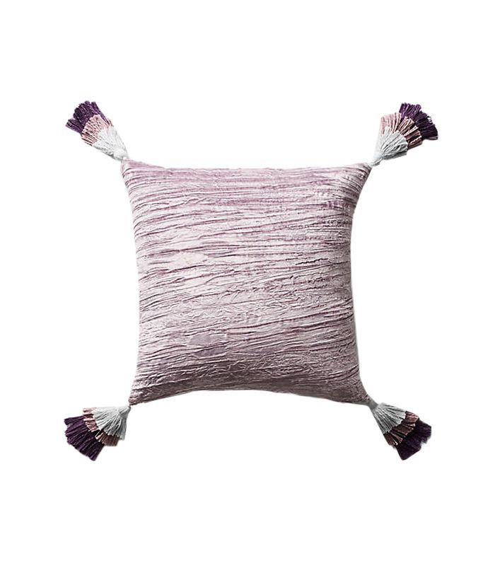 Tasseled Velvet Pillow