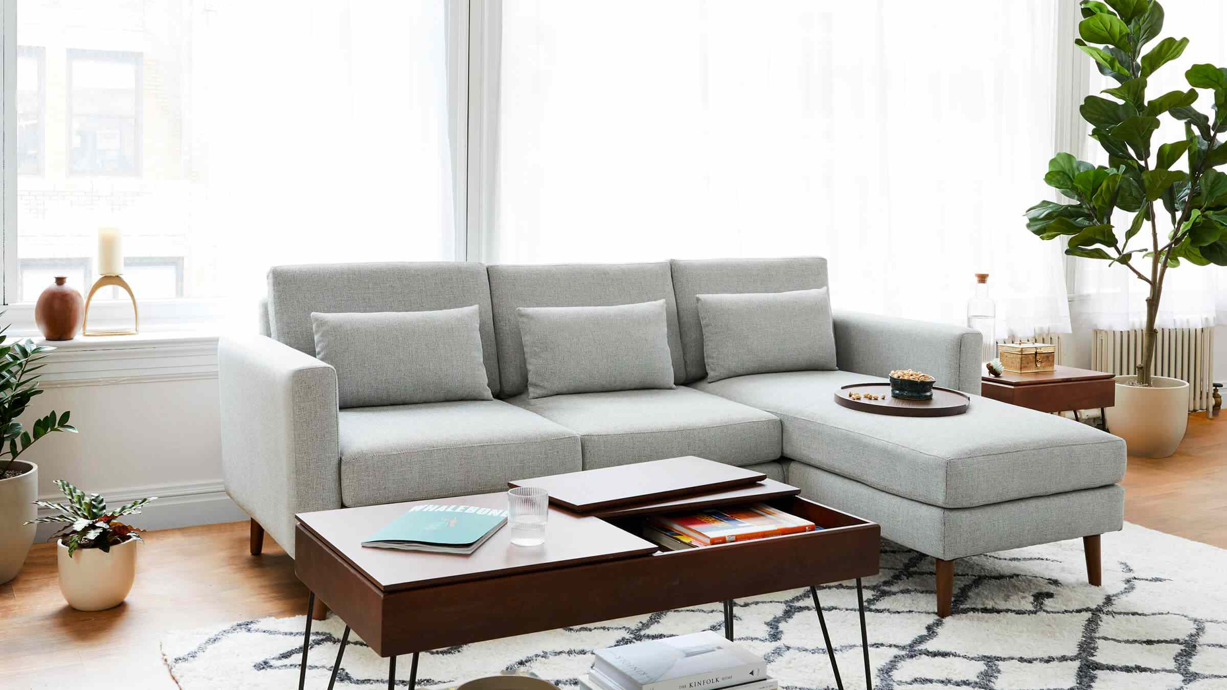 Burrow sofa living room