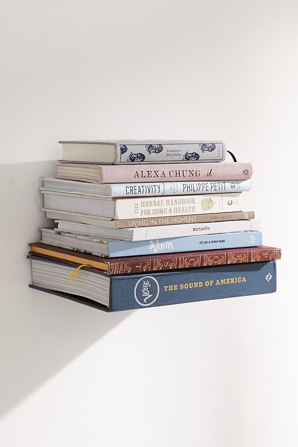 Invisible Book Shelf - Silver One Size at Urban Outfitters