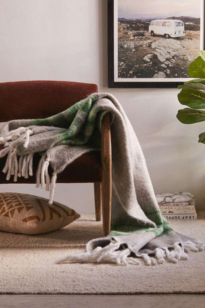 Urban Outfitters Varsity Stripe Throw Blanket
