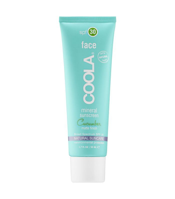 Coola Moisturizing Face SPF 30 Organic Sunscreen Lotion Cucumber
