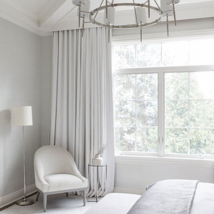 Luxurious white bedroom with layers