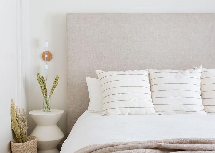 Neutral bedroom details