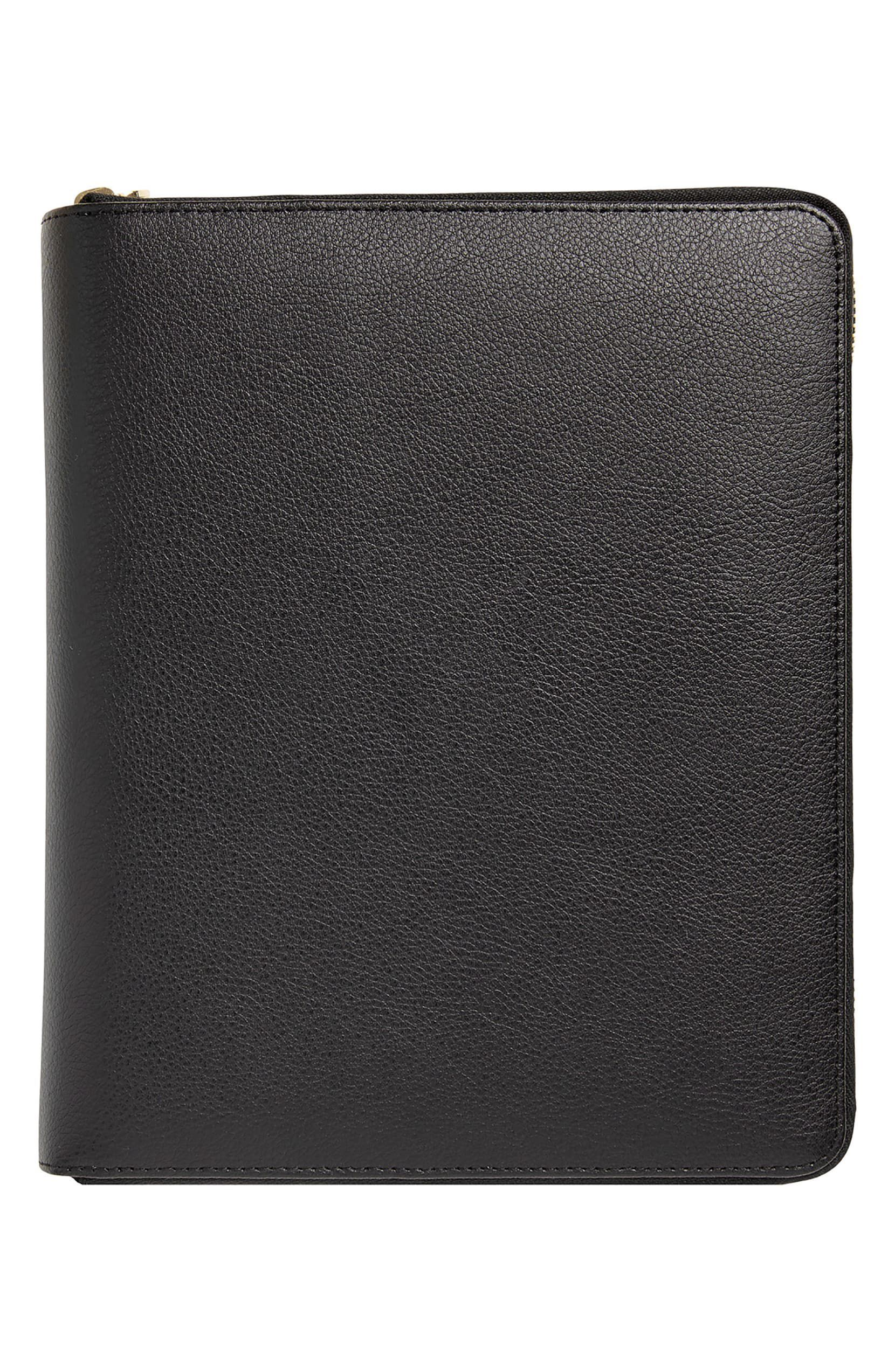 Zip-Around Leather 18-Month Perpetual Planner