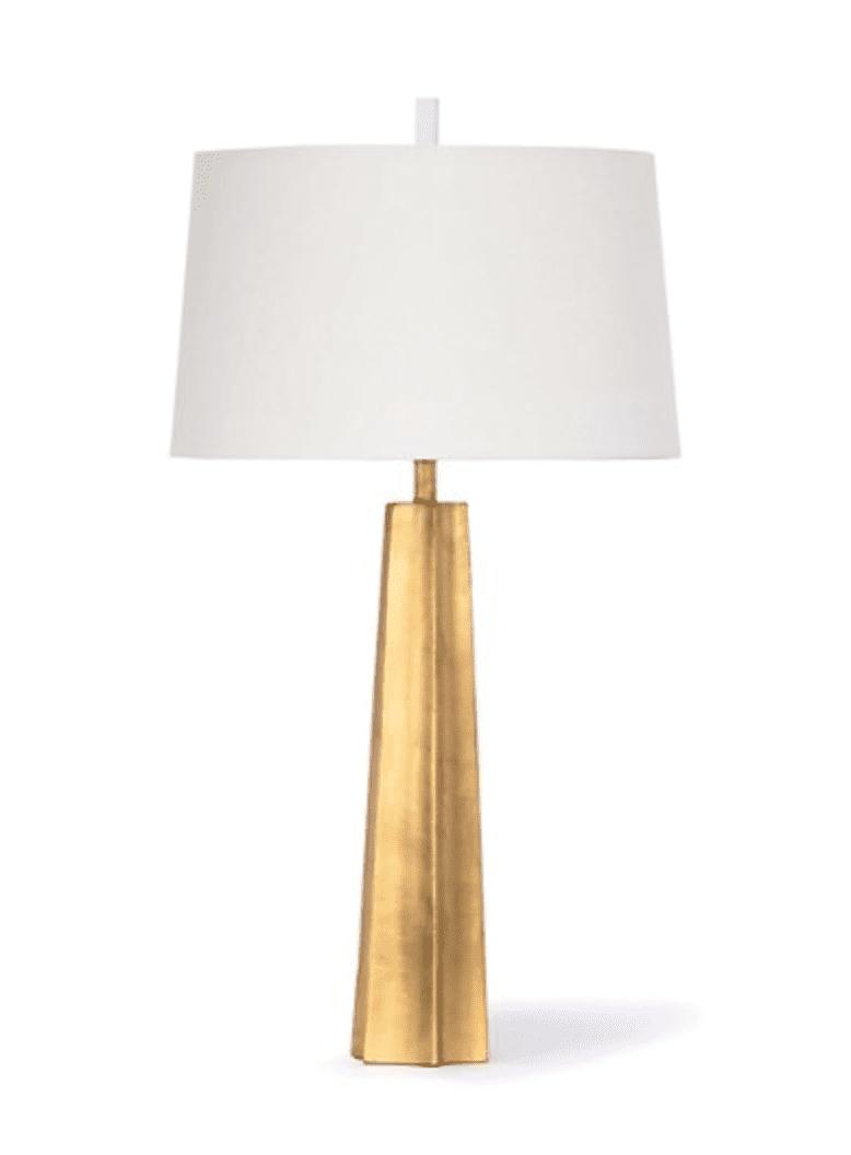 Celine Table Lamp in Gold Leaf