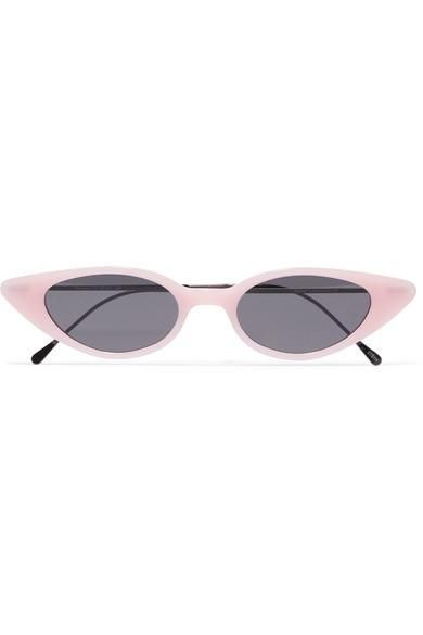 Marianne Cat-eye Acetate And Gunmetal-tone Sunglasses
