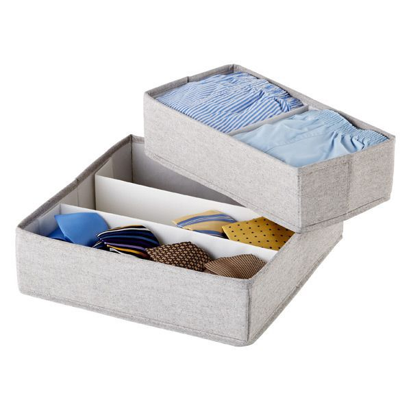 The Container Store Twill Drawer Organizers—Minimalist Closets