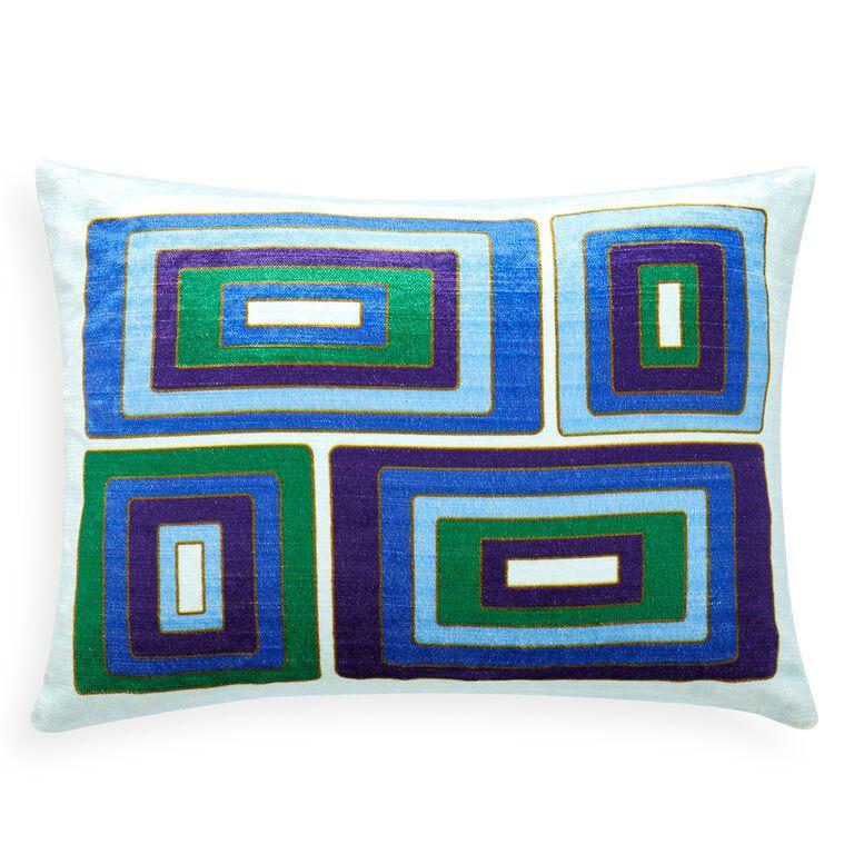 The geometric, midcentury modern-inspired throw pillow by Jonathan Adler.