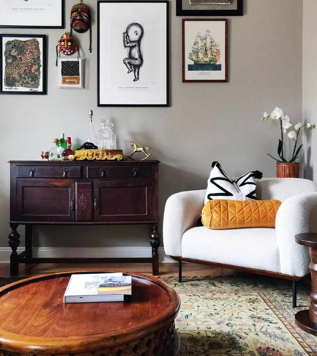 Room with antique pieces of furniture