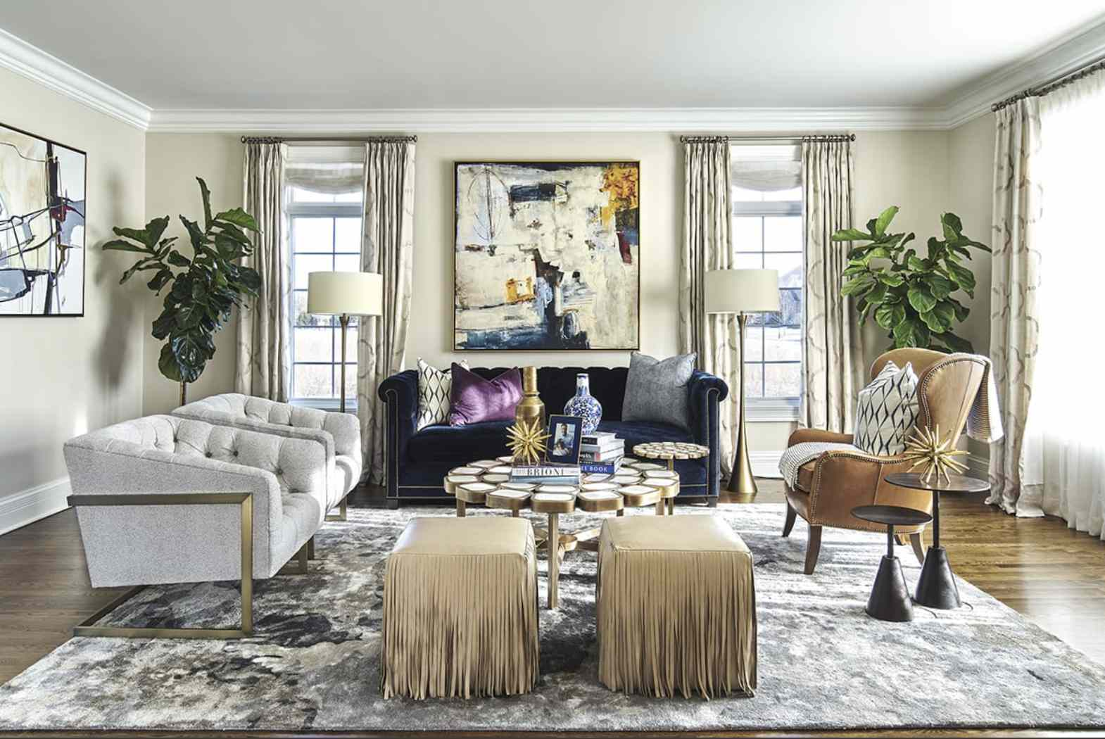 mixed style living room