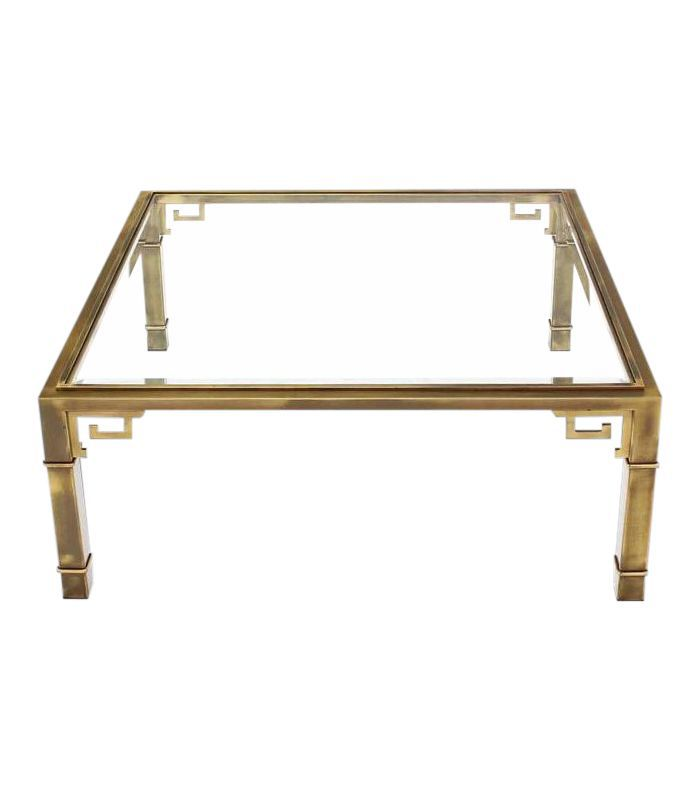 Mastercraft Vintage Large Square Greek Key Coffee Table