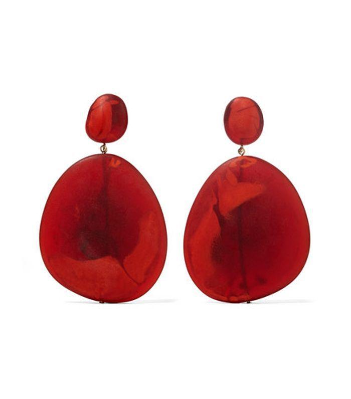 River Stone Resin Earrings