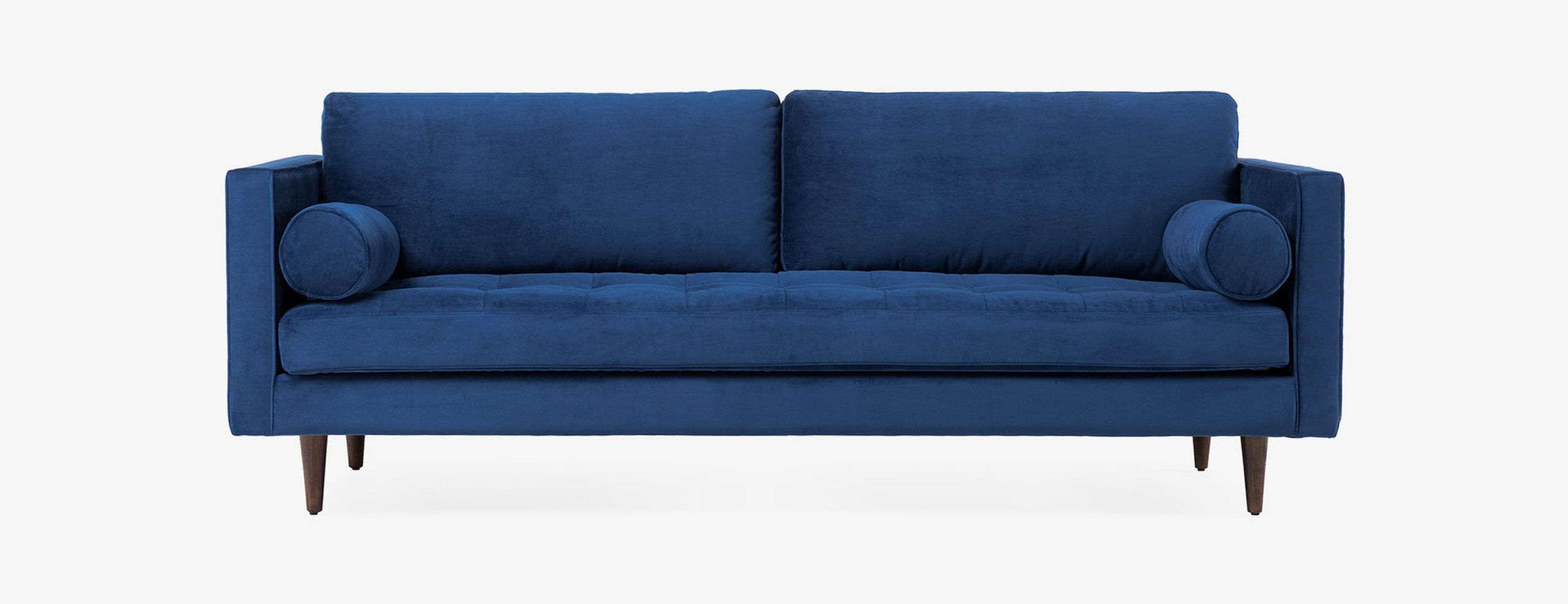 Briar sofa by Joybird in Royale Cobalt and Mocha