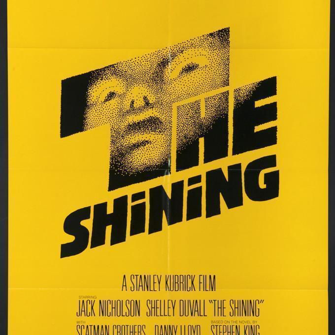 The Shining yellow movie poster.