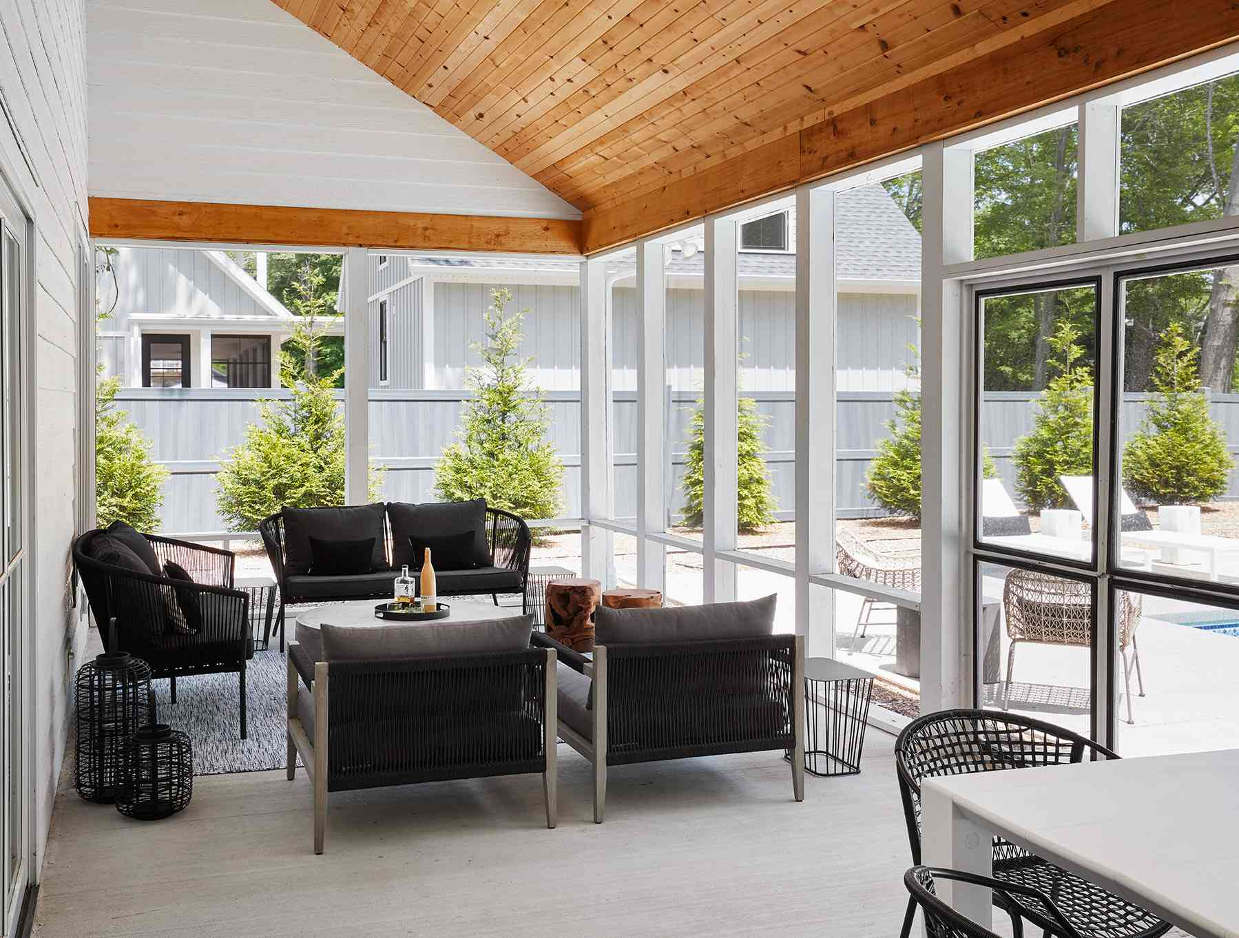outdoor patio with structure
