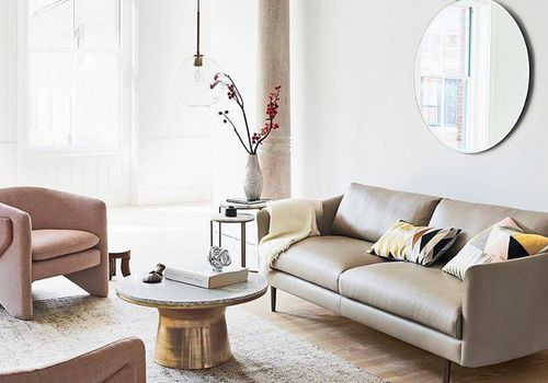 living room from West Elm
