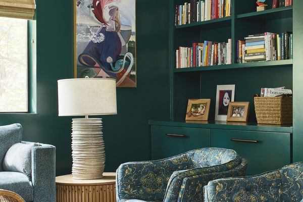 Room with green paint