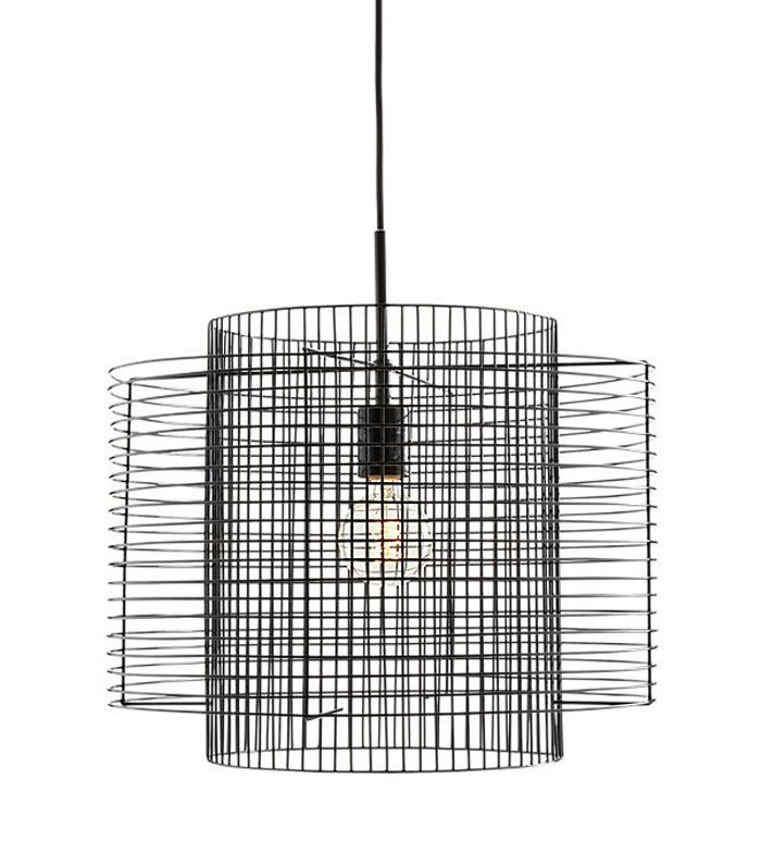 Overlap Black Cage Pendant Light