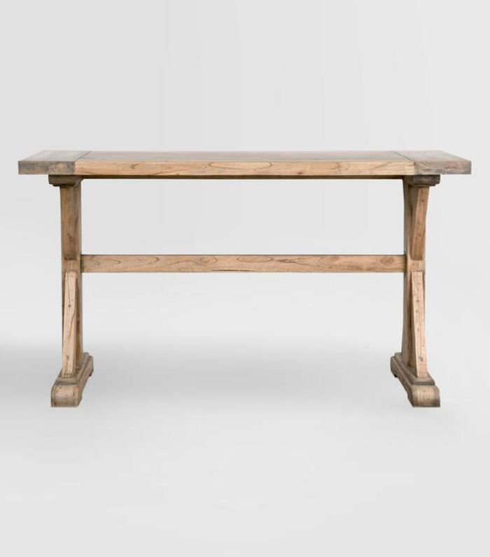 Wood Keaton Counter Height Table: Metallic by World Market