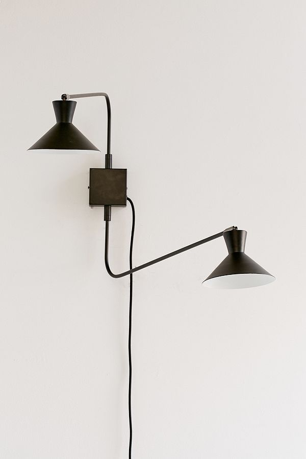 Chelsea Double Sconce - Black One Size at Urban Outfitters