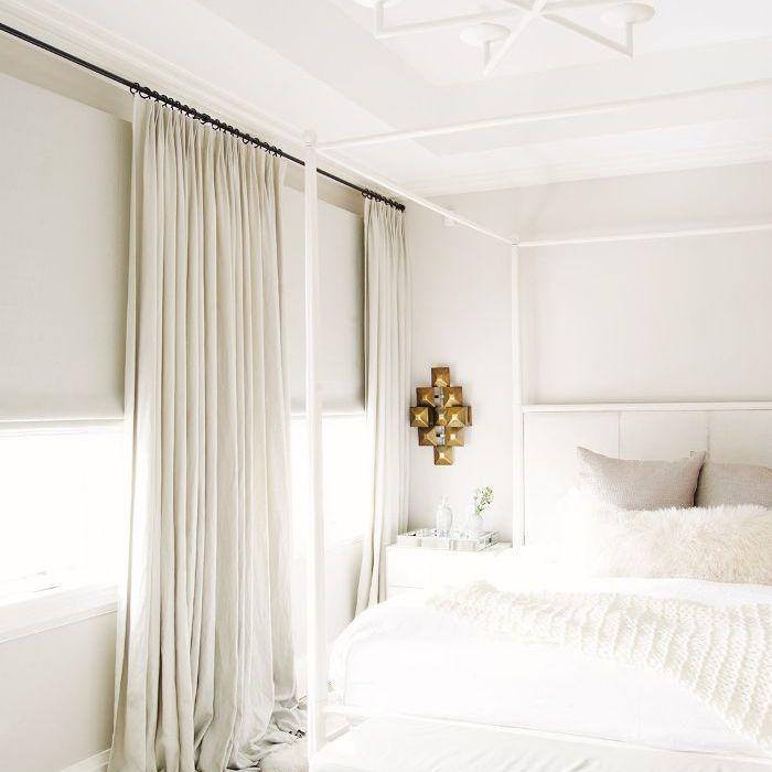 all-white bedroom