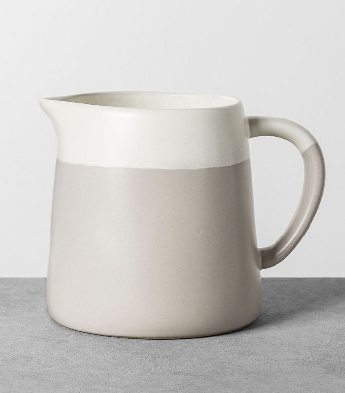 Hearth & Hand with Magnolia White and Gray Pitcher