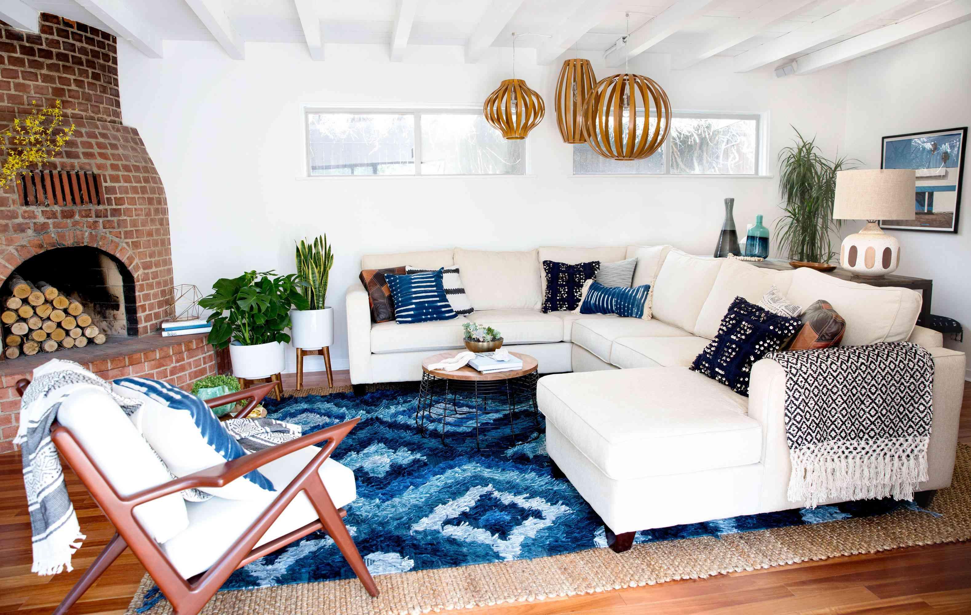 blue living room ideas
