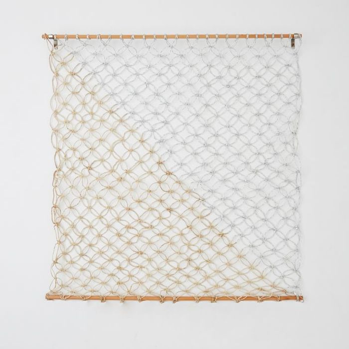 West Elm Metallic Macrame Wall Hanging