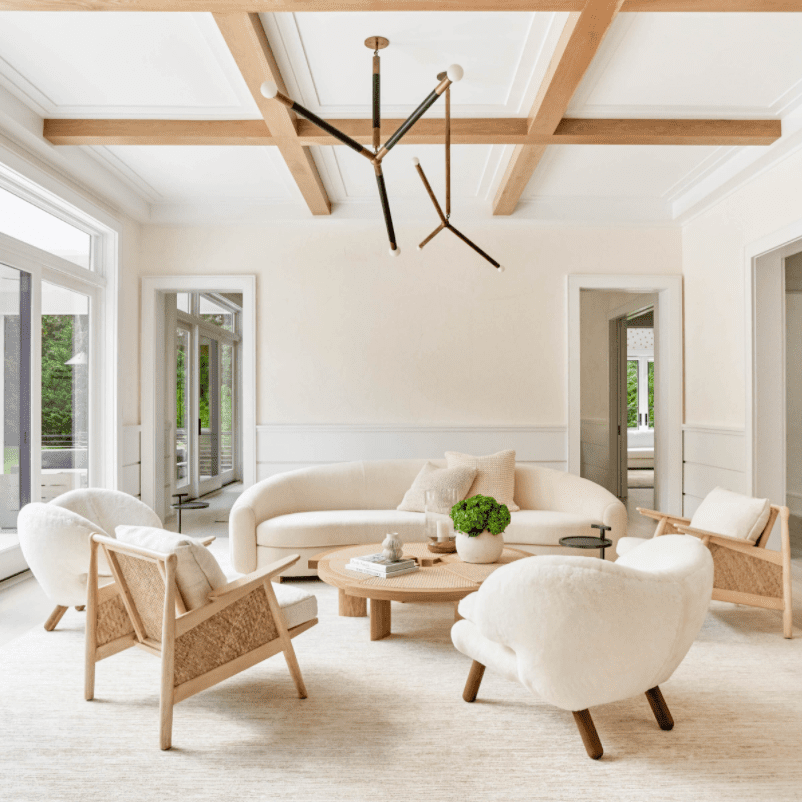 Ceiling with coffered style beams