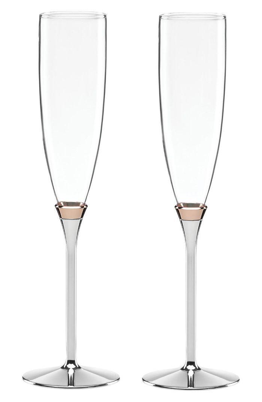 Flautas de tostado de champán Kate Spade New York 'Rosy Glow'