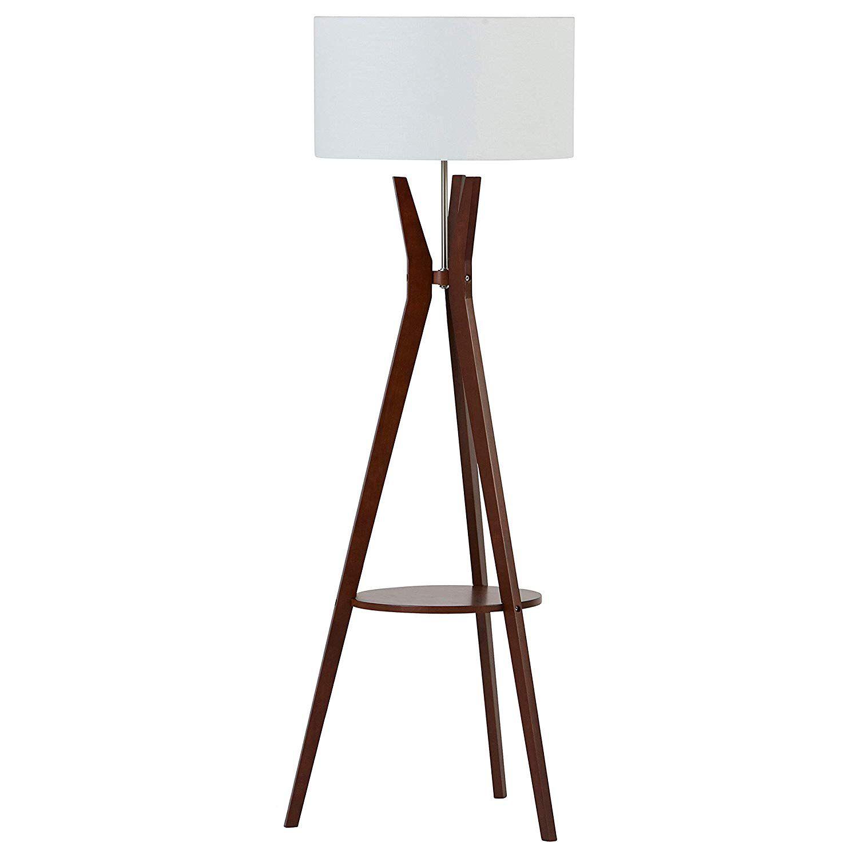 Zoey Mid-Century Tripod Storage Floor Lamp