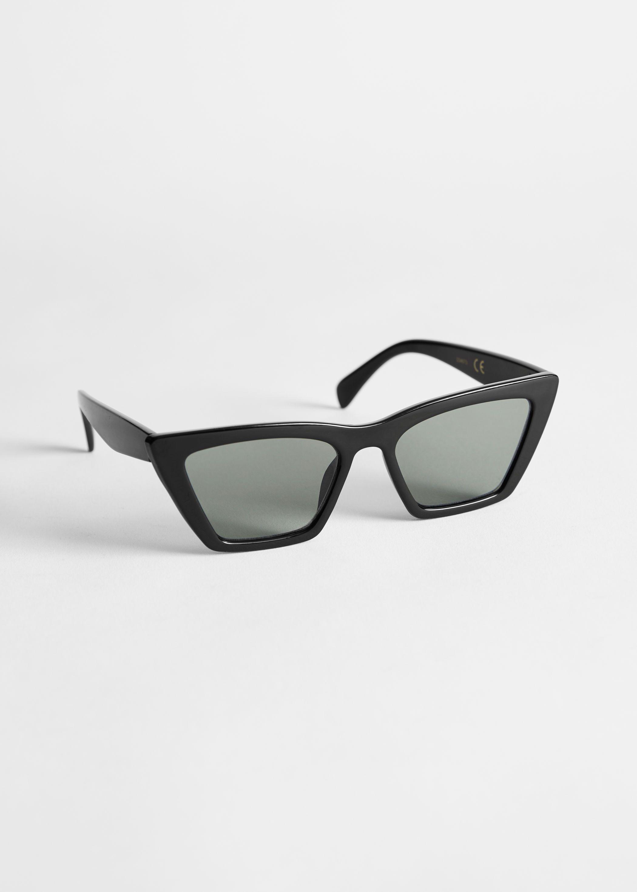 Gafas de sol angulares con ojo de gato