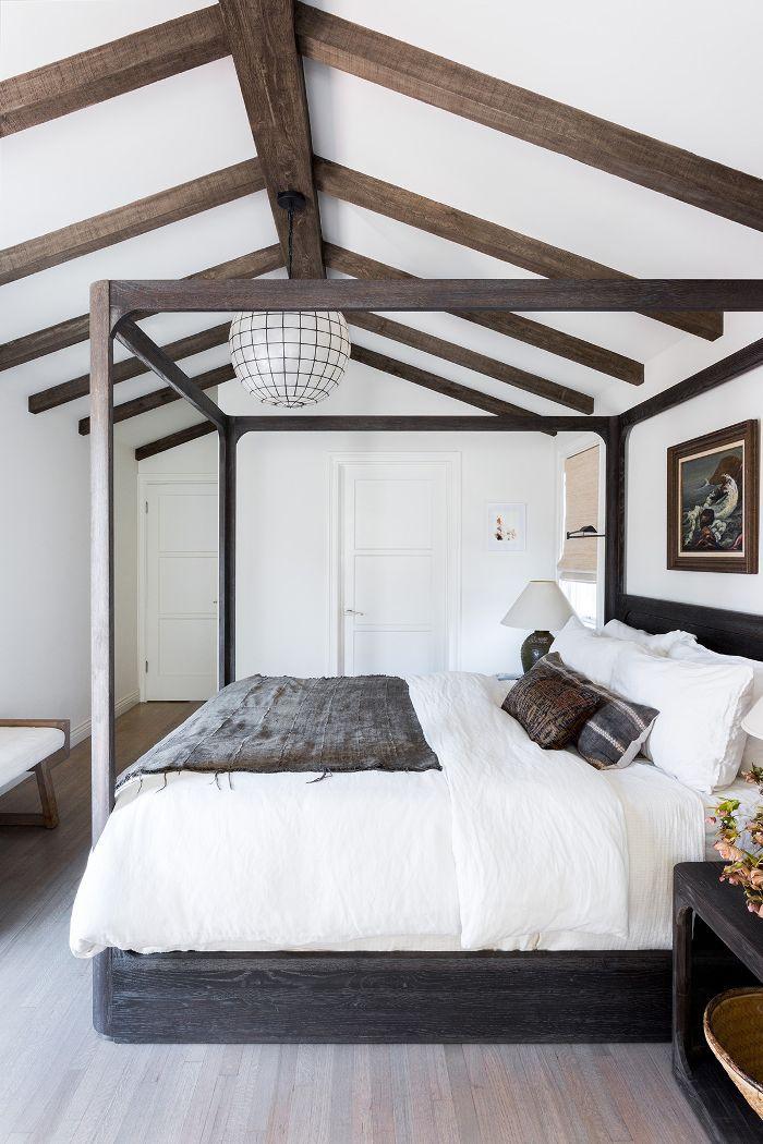 Master bedroom—exposed ceilings