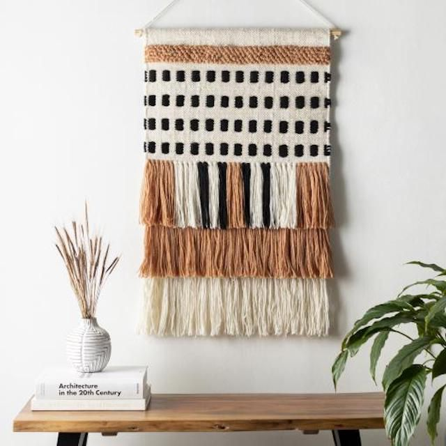 Jungalow Peach Dash Wall Hanging