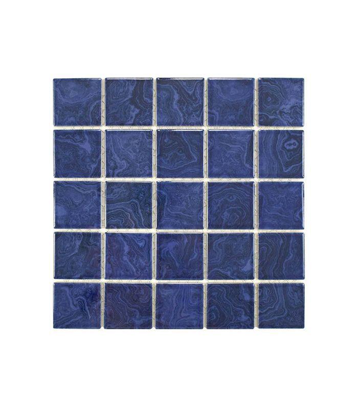 Merola Tile Resort Marine Blue Porcelain Mosaic Tile