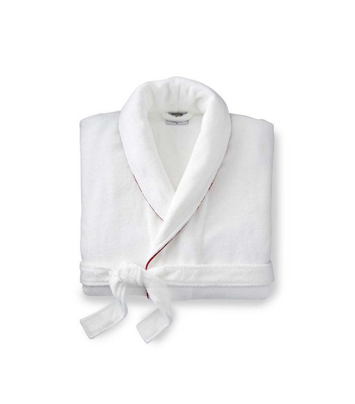 Williams-Sonoma Solid Hydrocotton Robe With Piping