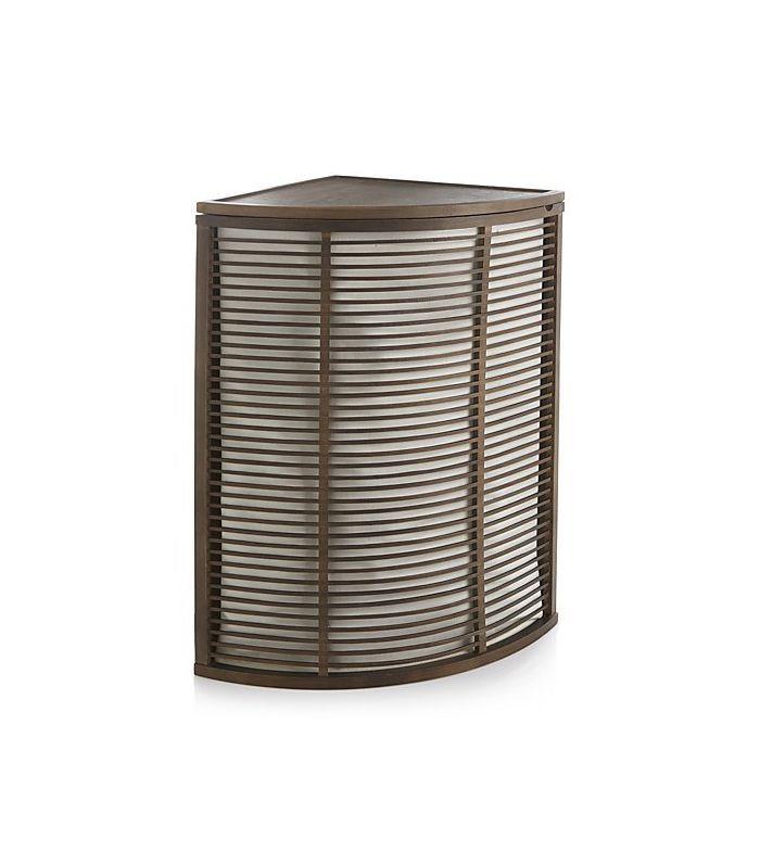 Crate and Barrel Dixon Corner Hamper with Liner
