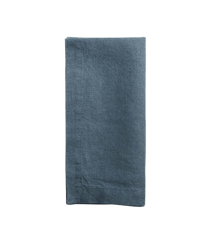 World Market Indigo Blue 100% Linen Napkins, Set of 4
