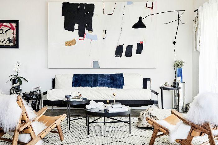 Sala de estar ecléctica: Sacha Strebe