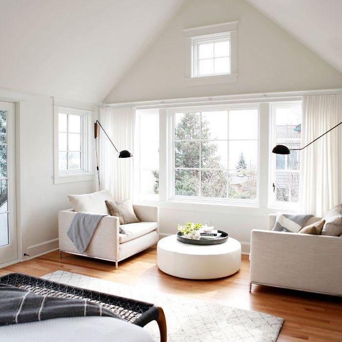 white master bedroom