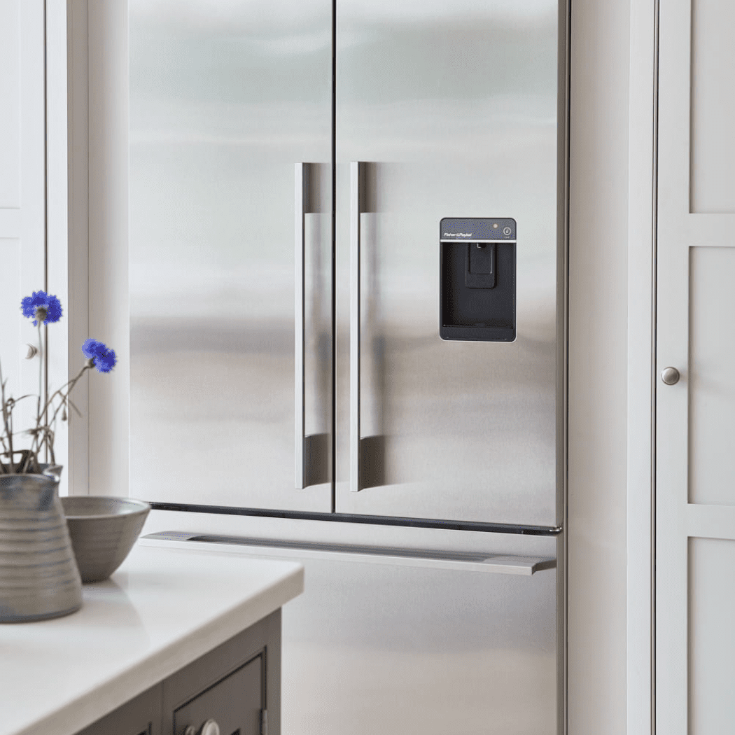 clean stainless steel refrigerator